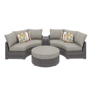 Ashley Furniture Spring Dew - Gray 4 Piece Patio Set