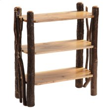 Hickory Open Bookshelf with Twig Accents - Traditional Hickory