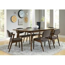 Malone Mid-century Modern Dark Walnut Dining Table