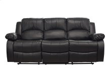 Kaden Black Bonded Leather Reclining Sofa