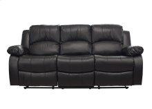 Kaden Black Bonded Leather Reclining Sofa