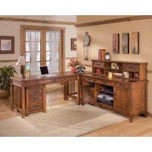 Cross Island - Medium Brown 5 Piece Home Office Set