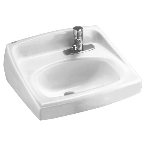 Lucerne Wall Mounted Sink with Right Side Faucet Hole - White