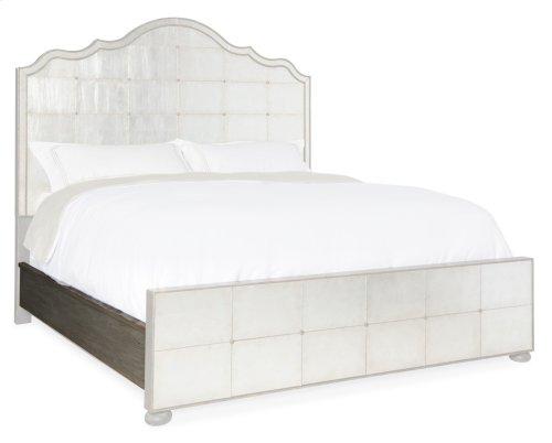 Bedroom Arabella California King Mirrored Panel Bed