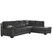 Signature Design by Ashley Accrington 2-Piece Left Side Facing Sofa Sectional in Granite Microfiber