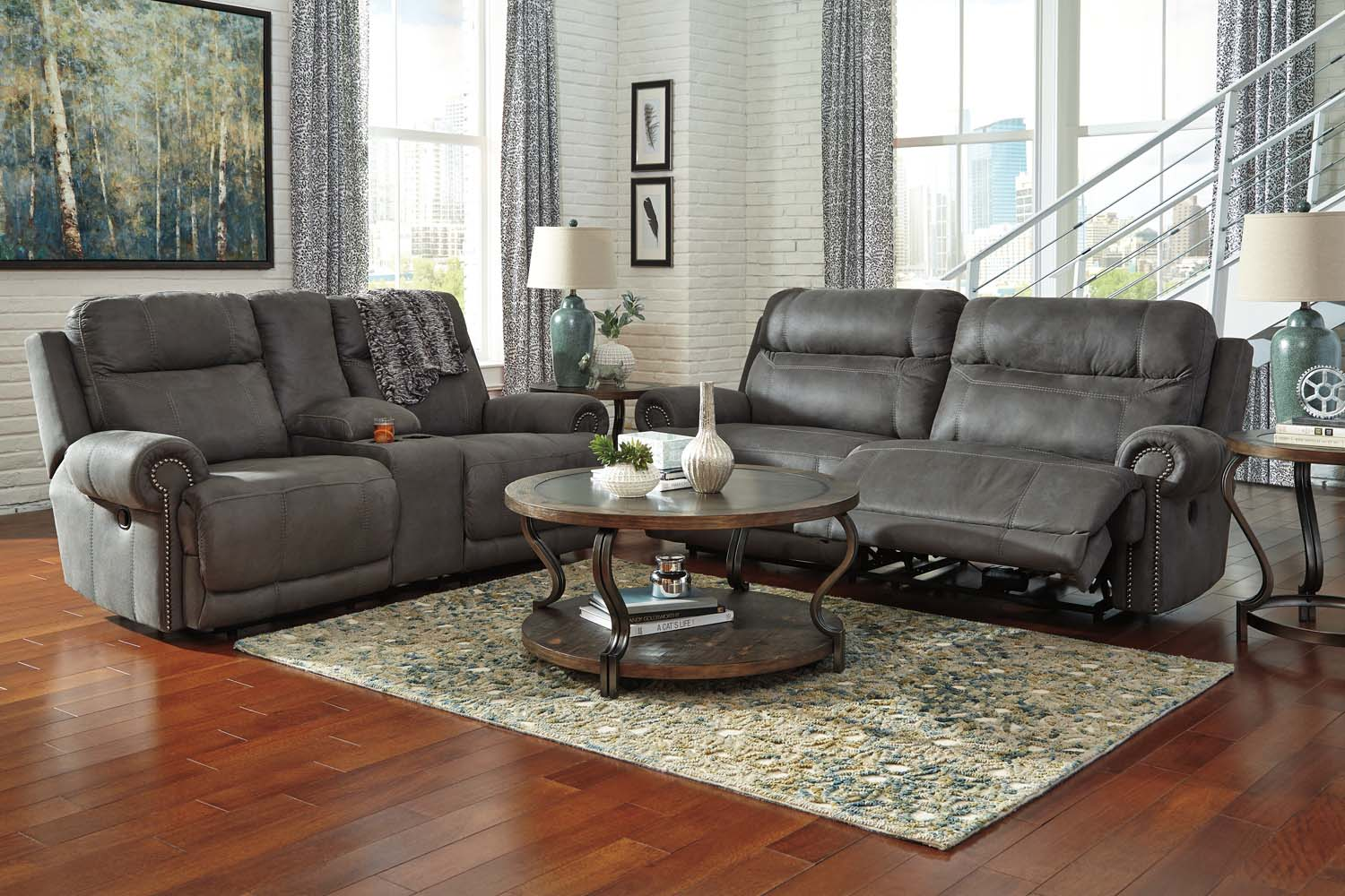 38401U2 Austere Gray 6 Piece Living Room Set by Ashley Furniture