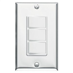 Broan3-Function Control, Polished Chrome, White Controls, 15 amp. 120V