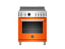 30 inch Induction Range, 4 Heating Zones, Electric Self-Clean Oven Orange