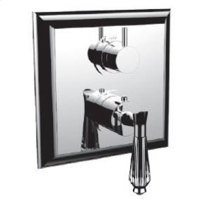 """1/2"""" Thermostatic Trim With 3-way Diverter Trim (shared Function) in Polished Nickel"""