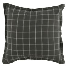Hudson Plaid Gray Euro Sham 26x26