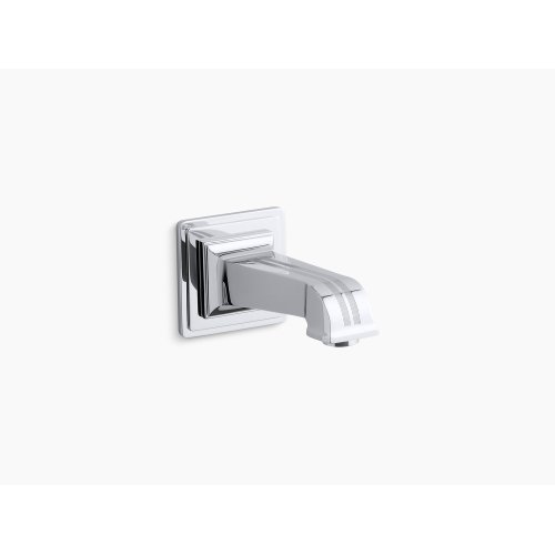 """Vibrant Brushed Nickel Wall-mount 6-7/8"""" Non-diverter Bath Spout"""