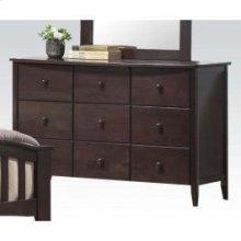 Dk Walnut Dresser W/6 Drawers