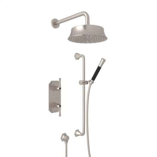 Satin Nickel Bellia Bekit50l Thermostatic Shower Package