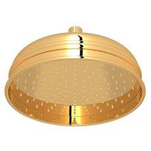 "Italian Brass 8"" Bordano Rain Anti-Cal Showerhead"