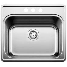 Blanco Essential Laundry Sink Single Bowl - 3 Hole - Satin Finish