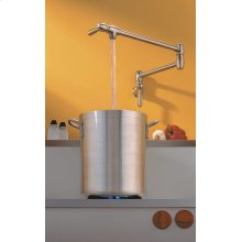 Satin Nickel Finish Pot Filler Cover in Polished Chrome
