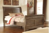 Allymore - Brown 3 Piece Bed Set (Queen)