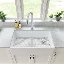 Avery 33 x 20 Single Bowl Apron Kitchen Sink  American Standard - Alabaster White