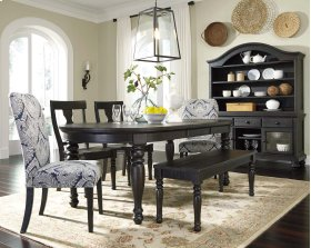 Sharlowe - Charcoal 6 Piece Dining Room Set