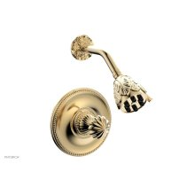 GEORGIAN & BARCELONA Pressure Balance Shower Set - Round Handle PB3361 - Satin Brass