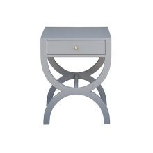 One Drawer Side Table In Matte Grey Lacquer