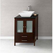 "Juno 24"" Bathroom Vanity Cabinet Base in Dark Cherry"