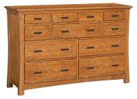 LSO 11-Drawer Prairie City Dresser Product Image
