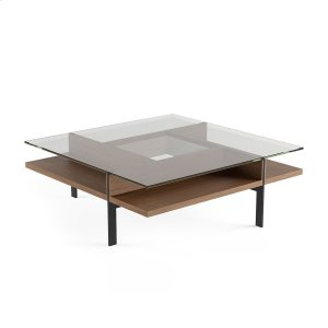 Square Coffee Table in Natural Walnut -