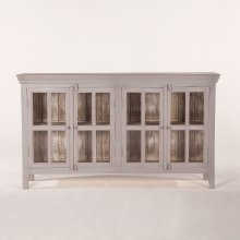 """Coral Gables 72"""" Glass Cabinet Graywash"""