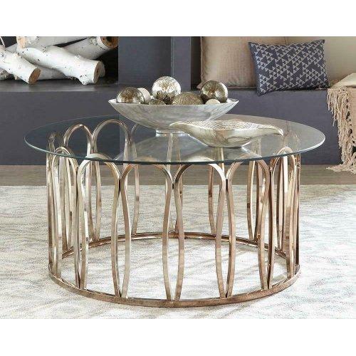Modern Chocolate Chrome Coffee Table
