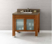 "Devon 36"" Bathroom Vanity Base Cabinet in Vintage Walnut"