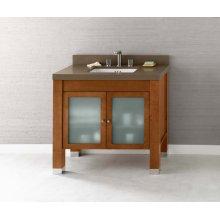 "Devon 36"" Bathroom Vanity Base Cabinet in Vintage Walnut"