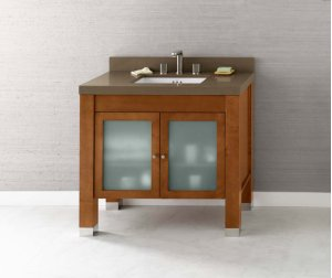 "Devon 36"" Bathroom Vanity Base Cabinet in Vintage Walnut Product Image"