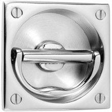 Antique Brass Unlacquered Flush handle set