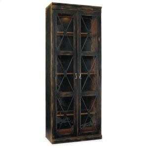 Hooker FurnitureLiving Room Sanctuary Two-Door Thin Display Cabinet - Ebony