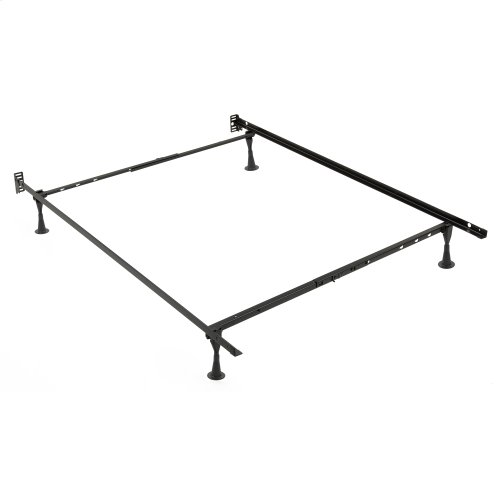 Sentry PL79G Adjustable Posi-Lock Bed Frame with Headboard Brackets and (4) 2.5-Inch Glide Legs, Twin / Full