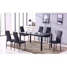 Noir 7pc Dining room set