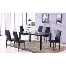 Noir 7pc Dining room set