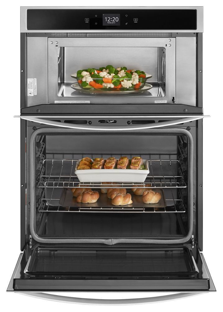 Whirlpool 6 4 Cu Ft Smart Combination Wall Oven With