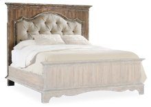 Bedroom Chatelet Queen Upholstered Mantle Panel Headboard