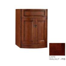 """Marcello 24"""" Bathroom Vanity Cabinet Base in Café Walnut"""