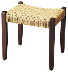 This understated stool is a welcome addition to virtually any space. Its legs and seat frame are sturdily crafted from mango wood solids, and it features a durable jute rope seat in a basket weave pattern. Blending modern lines with a touch of rustic ambi