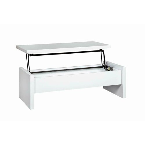 Contemporary White Lift-top Coffee Table