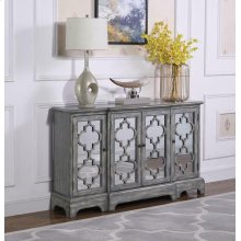 Rustic Grey Accent Cabinet