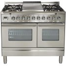 """40"""" - 5 Burner, Double Oven w/ Griddle in Stainless Steel Product Image"""