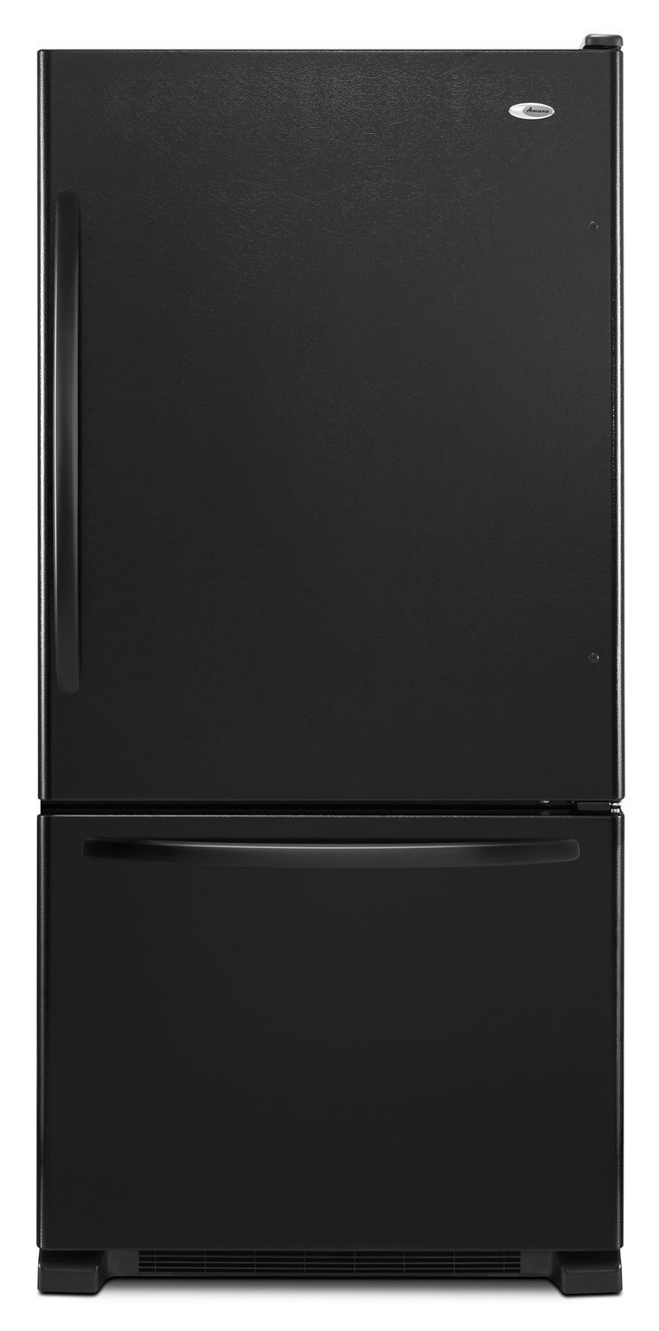 Amana33-Inch Wide Bottom-Freezer Refrigerator With Easyfreezer Pull-Out Drawer - 22 Cu. Ft. Capacity Black