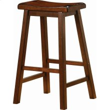 Transitional Chestnut Bar-height Stool