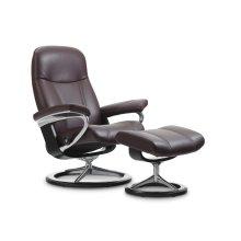 Stressless Consul Medium Signature Base Chair and Ottoman
