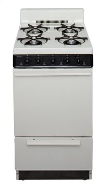 20 in. Freestanding Battery-Generated Spark Ignition Gas Range in Biscuit