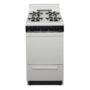 Premier20 in. Freestanding Battery-Generated Spark Ignition Gas Range in Biscuit